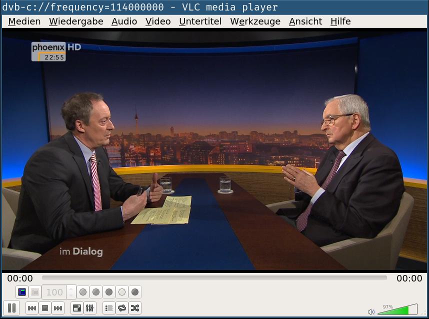 VLC running Phoenix TV program